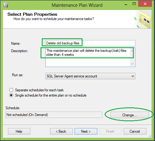 How to create maintenance backup plan in sql server 2008 r2 using the wizard